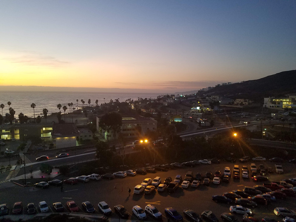 Sunset view in Ensenada