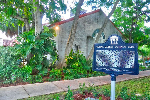 Picture of historic marker in front of the south hall