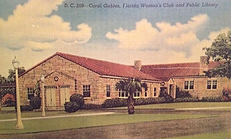 An old post card of the original Coral Gables Woman's Club