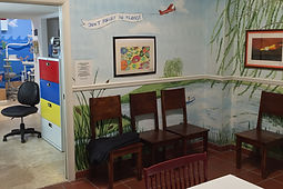 Photo of another angle of the Children's Dental Clinic waiting room