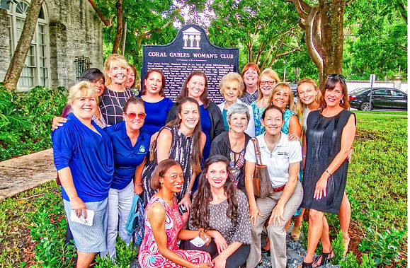 Our membership photographed with our historic marker on the day of it's dedication.