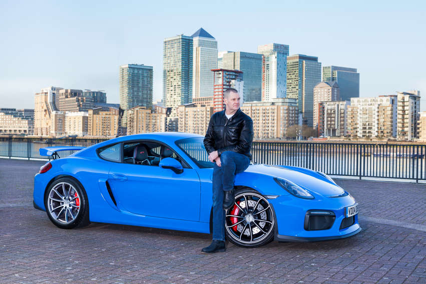 GRANT AND HIS PORSCHE CAYMAN GT4