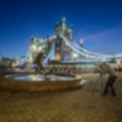 Self portrait while i was shooting a long exposure in next to the Tower Bridge, London UK