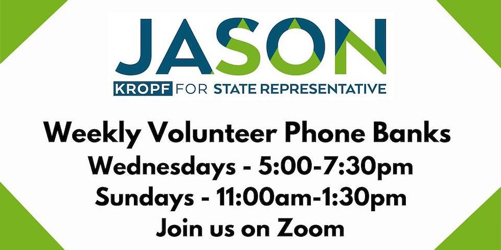 Wednesday Virtual Phone Bank with Team Jason
