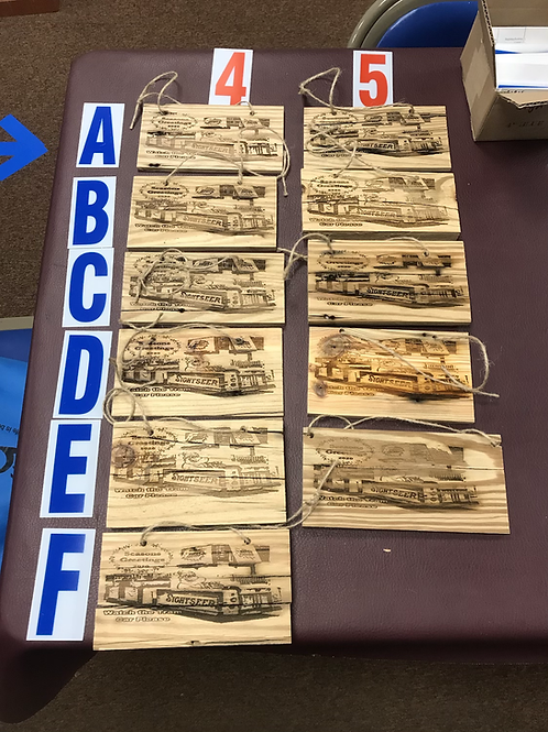Tramcar holiday wall hanging made from authentic Wildwood Boardwalk