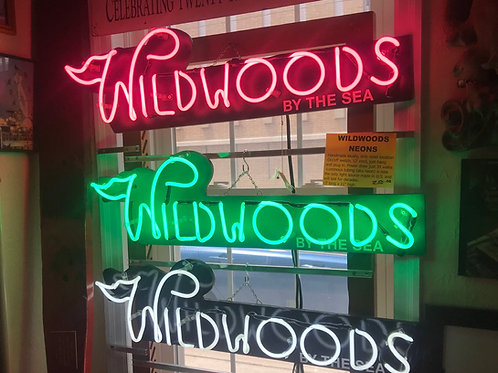 Handmade local authentic Wildwoods NJ neon sign