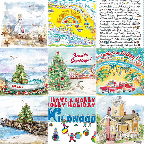 Wildwood Sun by the Sea greeting cards, pack of 1 dozen