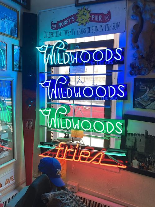 Handmade local authentic Wildwoods NJ neon sign