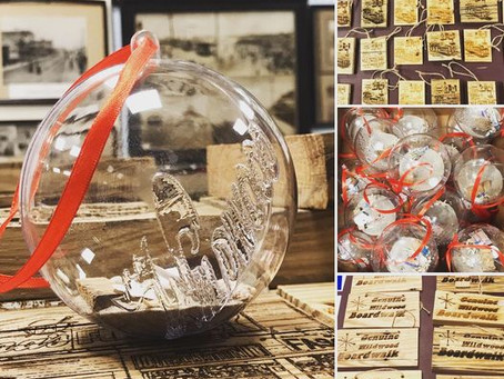 New holiday ornaments made in the USA from Wildwood Boardwalk wood added to online store