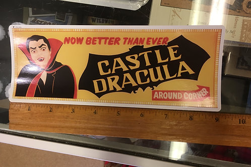 Castle Dracula Wildwood bumper sticker