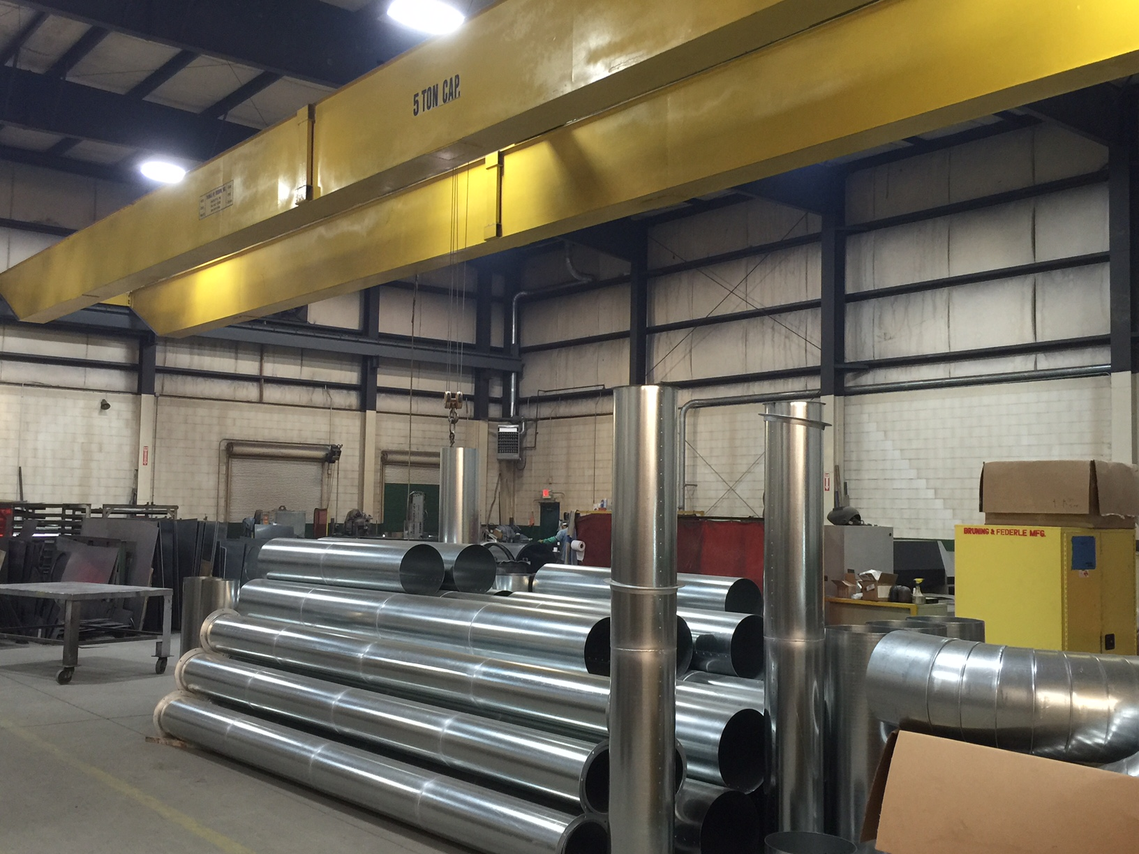 "All welded pipe, 4 "" to 82"" diameter pipe / duct Metal Coils – Large inventory of metal, 12 to 20 ga"