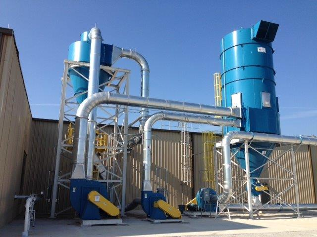 Dust Collector, Bag House, Cyclone, Rotary air Lock, Material Handling Fan, Ductwork, explosion pane