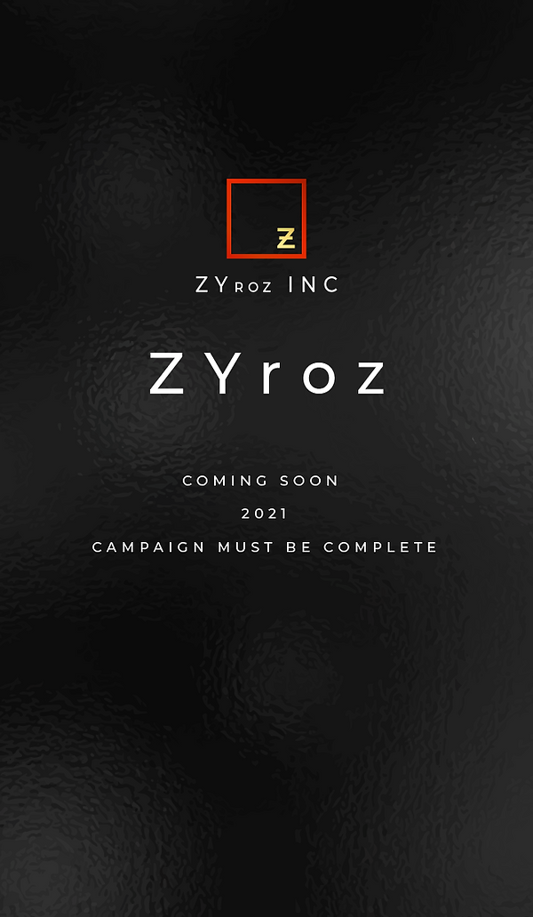 Business Card for Web ZYroz Coming Soon.