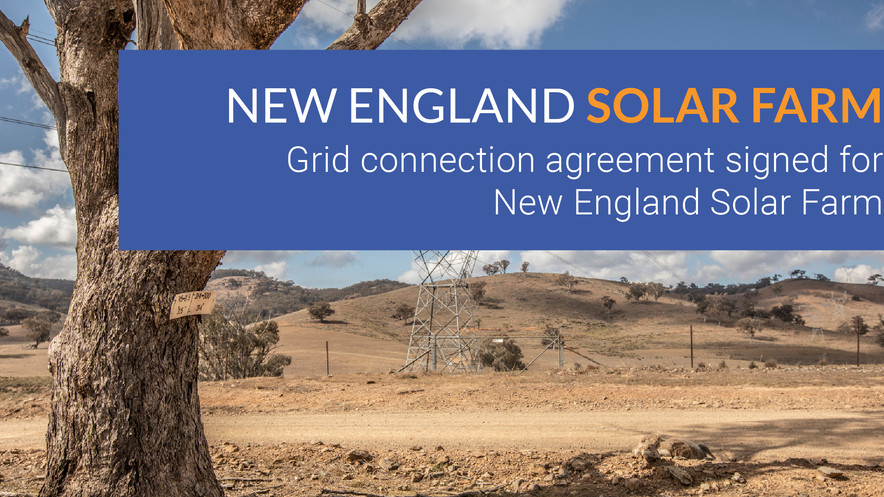 Grid connection agreement signed for New England Solar Farm