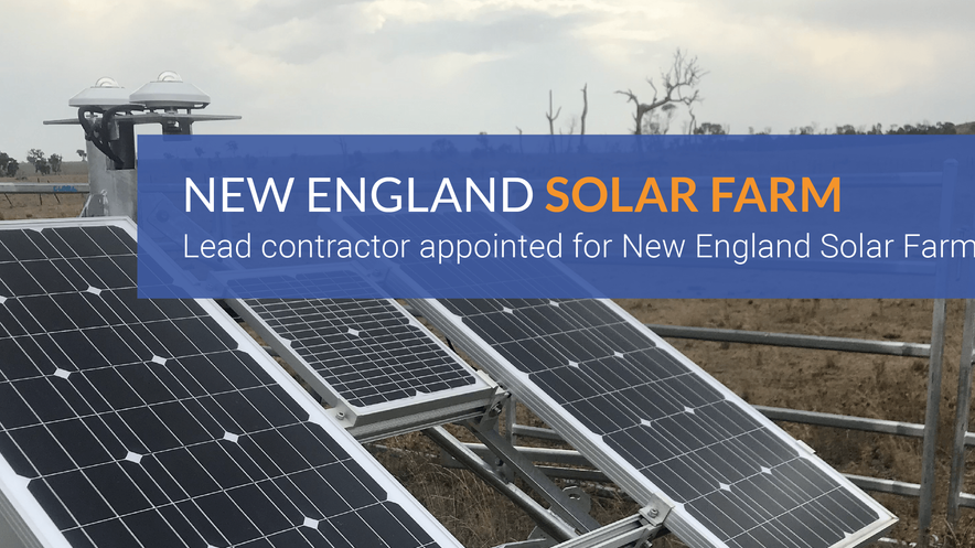 Work set to start on New England Solar Farm as lead contractor appointed