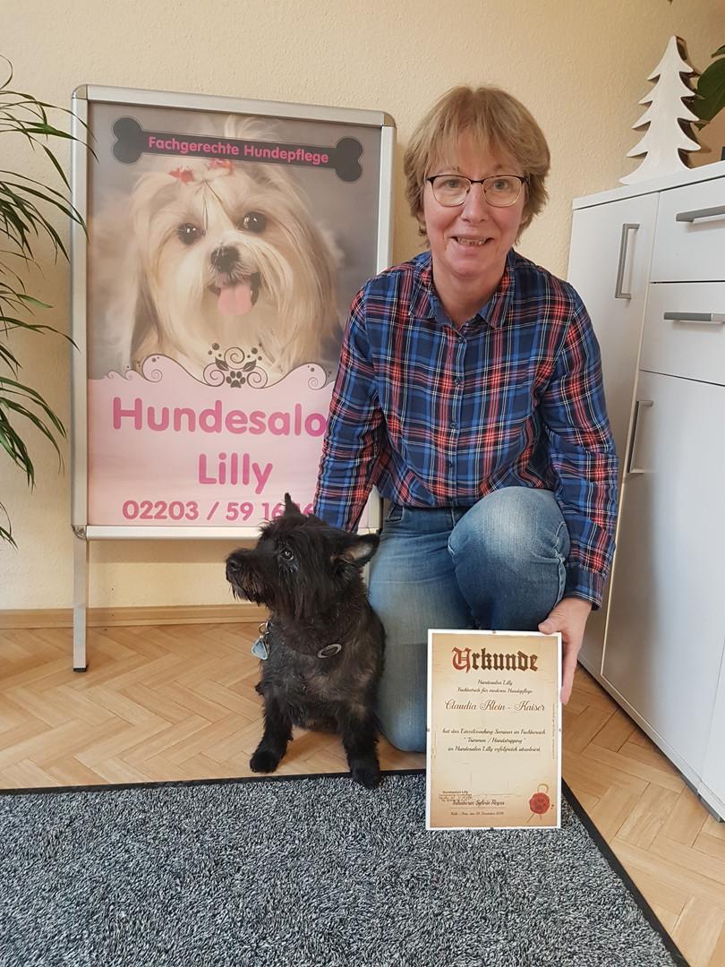Einzelcoaching Seminar Fachbereich: Trimmen / Handstripping am Cairn Terrier im Hundesalon Lilly