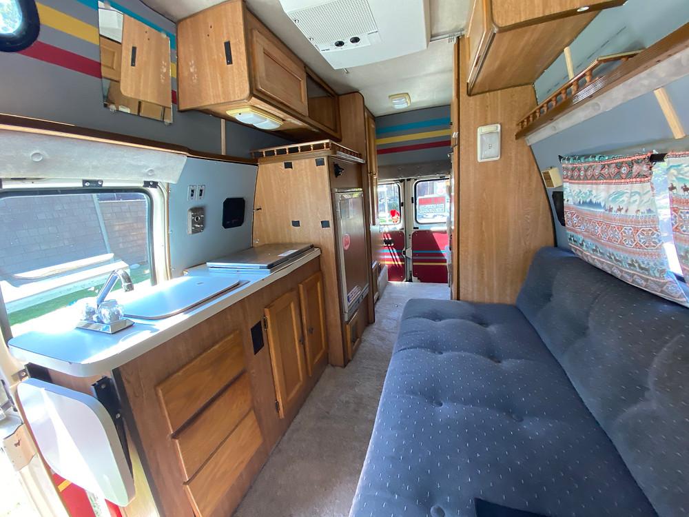Spirit of the west camper van interior