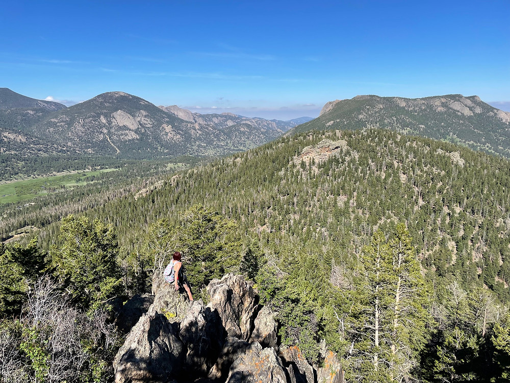 One woman has finally found solitude among the crowds at Rocky Mountain National Park in Colorado
