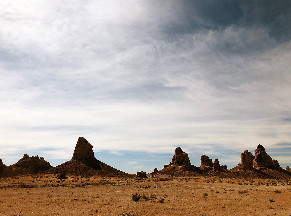 The majestic Trona Pinnacles rising out of the desert in Trona, California
