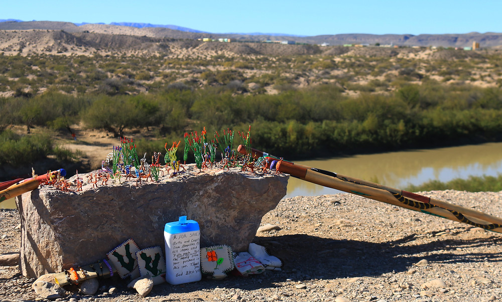 The people of Boquillas del Carmen often cross the Rio Grande and leave beautiful trinkets inspired by the desert out for sale - also leaving a payment jar for cash ruled by the honor system. Big Bend National Park, Texas