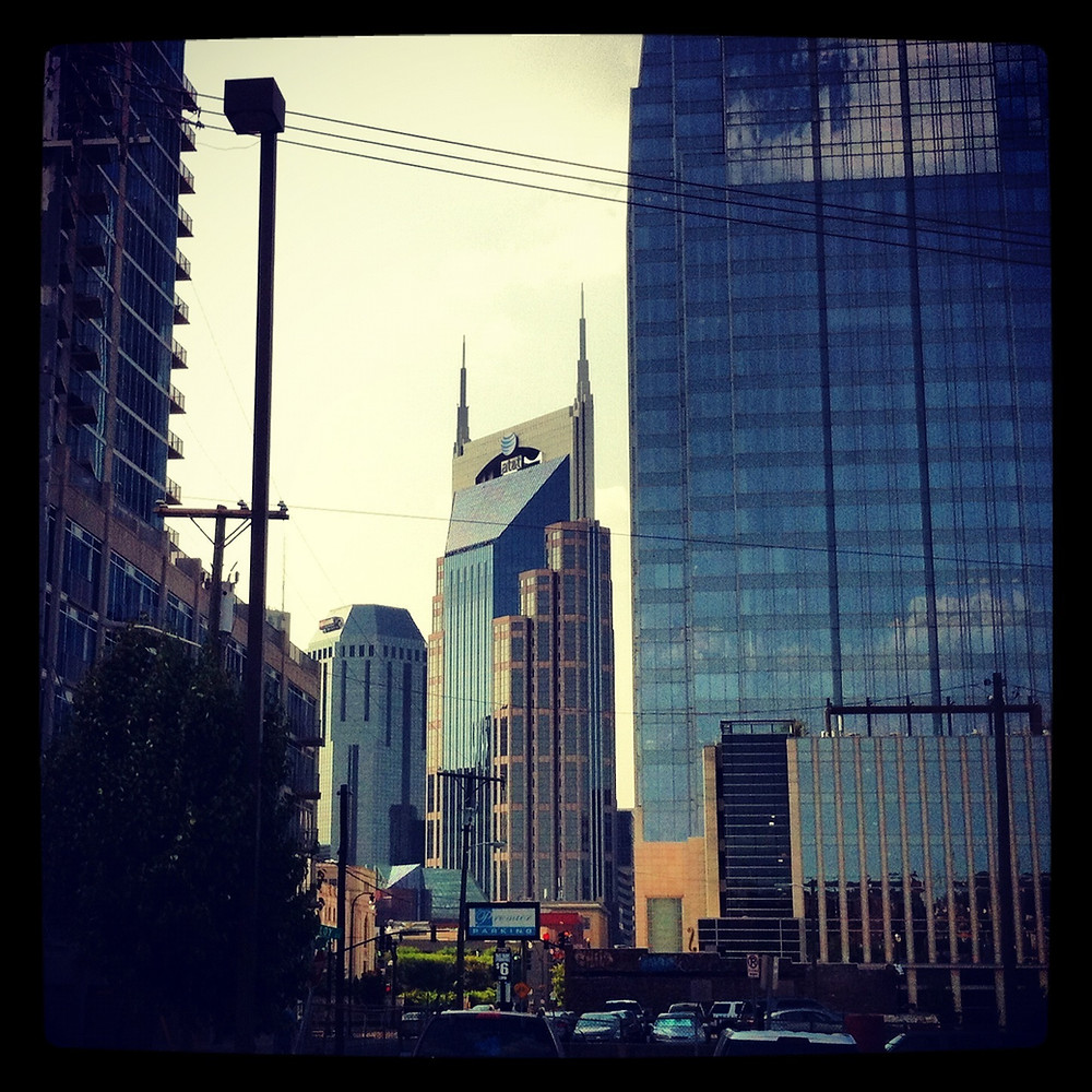 The skyscrapers of Nashville, TN are in stark contrast to the rolling plains of the rest of the state