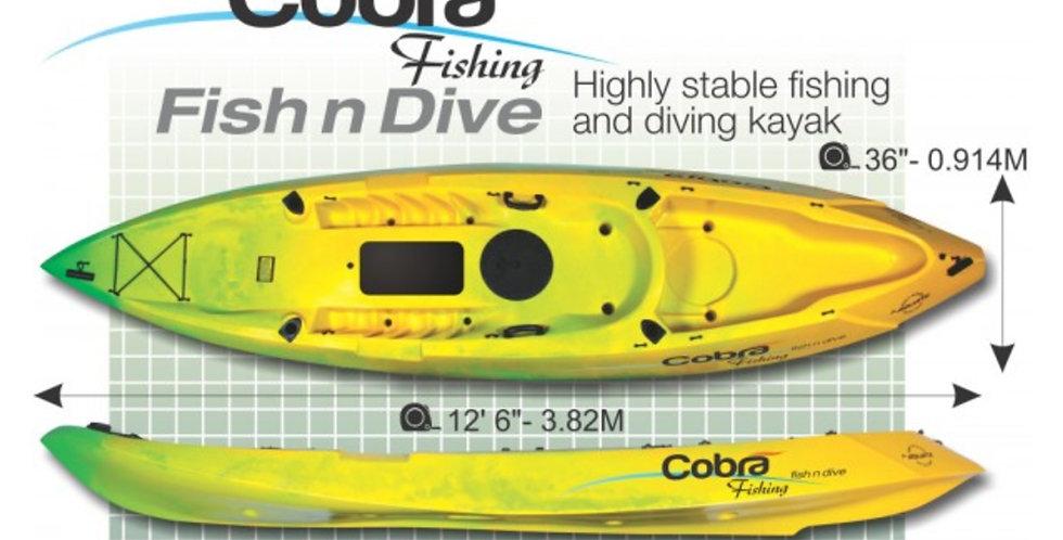 Cobra Kayak Fish and Dive Paquete Estandar