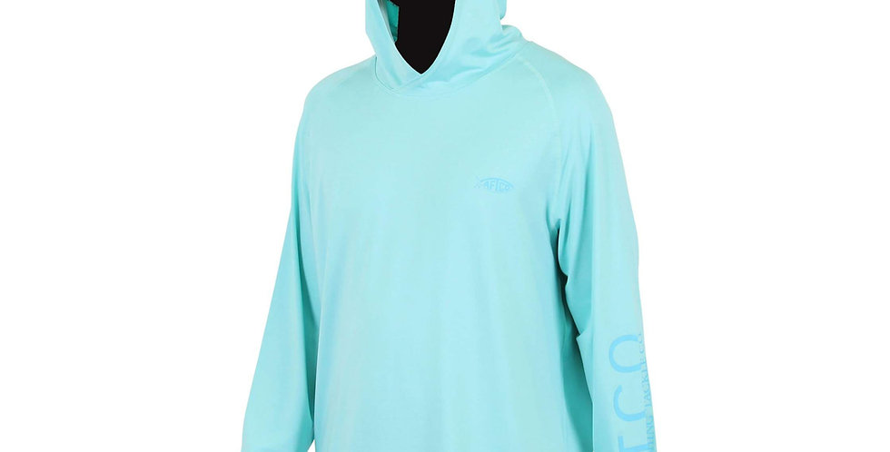 AFTCO Playera Samurai Hoodie 50FPS Bahama Heather
