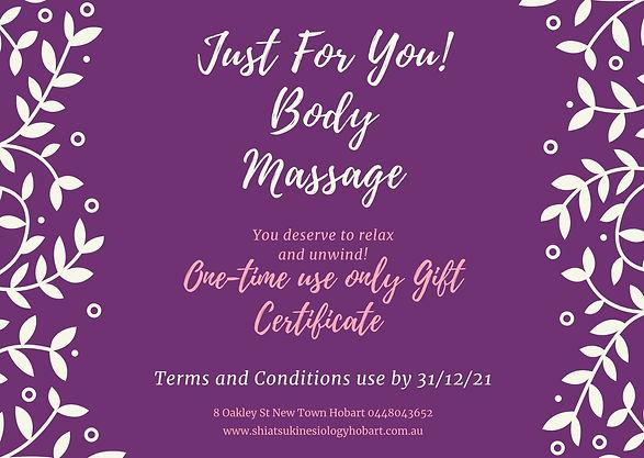 Dark Purple Massage Gift Certificate .jp