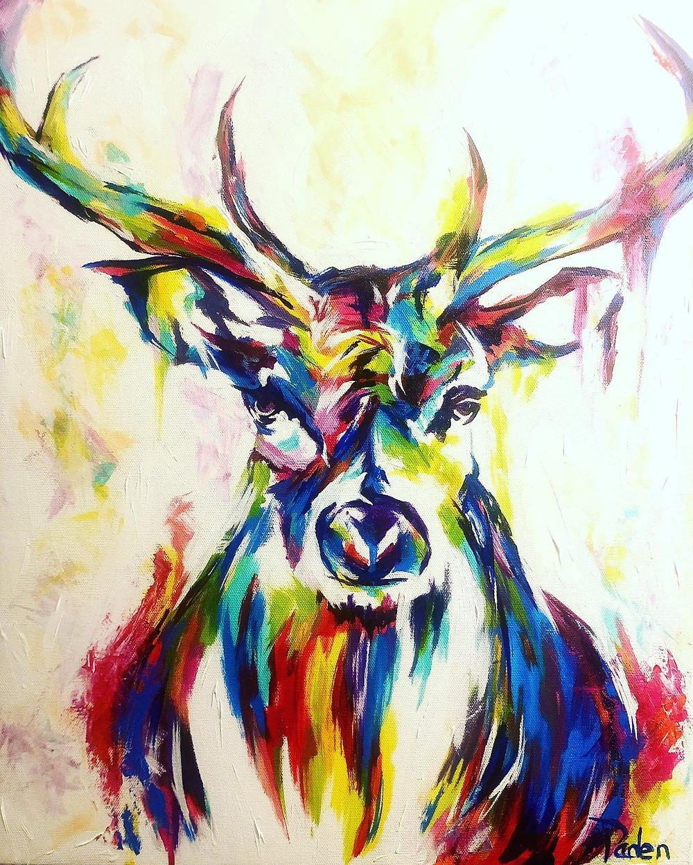 Spontaneous Realism Painting of a Wild Buck by Savvy Palette