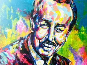 """Spontaneous Realism Portrait of Walt Disney for Commissioned Series, """"Inspired"""""""