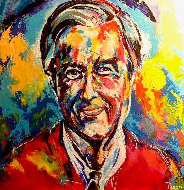 Spontaneous Realism portrait of Fred Rogers by Matthew R. Pasden
