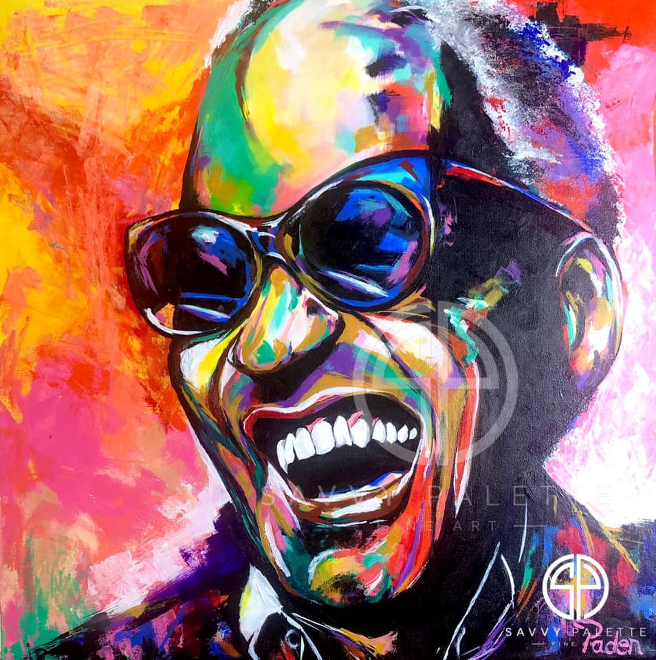 Spontaneous Realism Portrait of Ray Charles by Matthew R. Paden