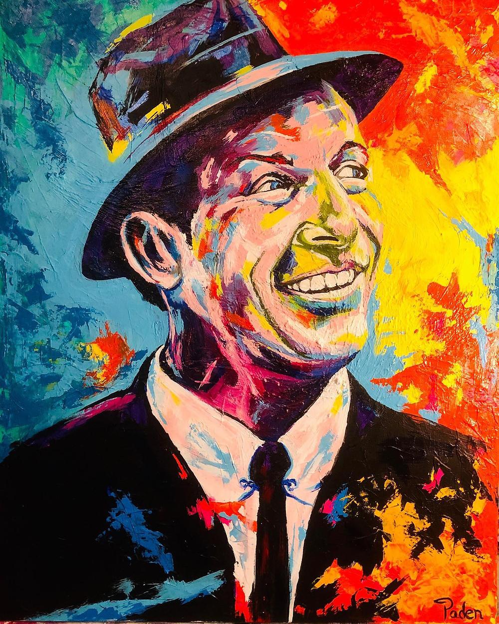 Spontaneous Realism portrait of Frank Sinatra by Oklahoma artist, Matthew R. Paden