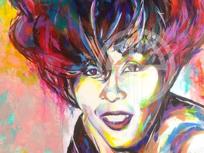 Wasn't Feeling My Whitney Houston Portrait Was Finished...