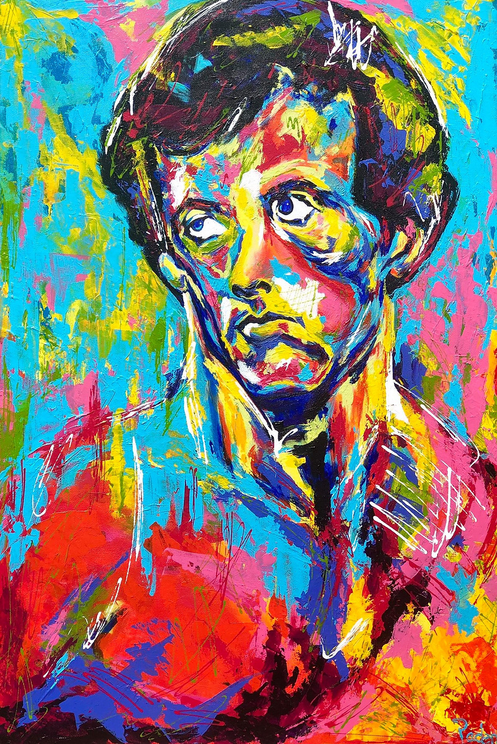 Spontaneous Realism Portrait of Sylvester Stallone by Matthew R. Paden
