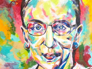 Fresh Off The Easel! My Newest Spontaneous Realism Portrait, Ruth Bader Ginsburg.