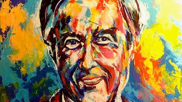 Spontaneous Realism portrait of Fred Rogers by Oklahoma artist, Matthew R. Paden