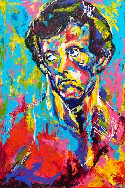 Spontaneous Realism portrait of Sylvester Stallone as Rocky by Oklahoma artist, Matthew R. Paden