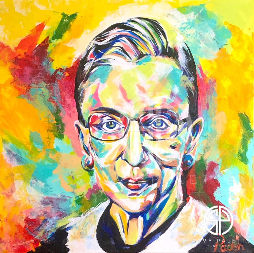 Spontaneous Realism Portrait of Ruth Bader Ginsburg by Matthew R. Paden