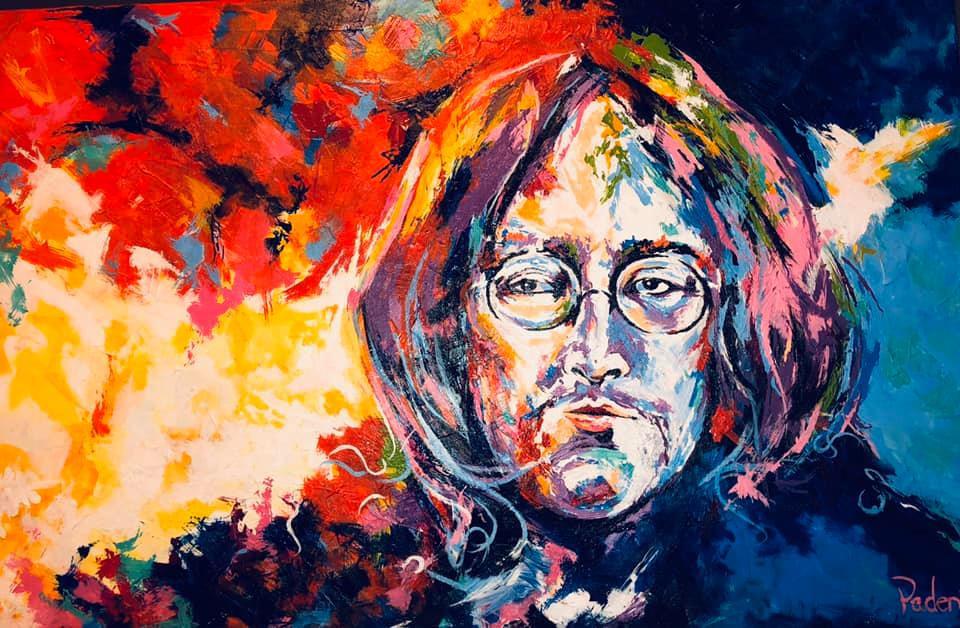 John Lennon portrait by Oklahoma artist, Matthew R. Paden