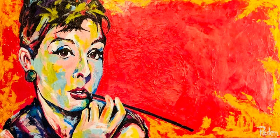 Audrey Hepburn portrait by Oklahoma artist, Matthew R. Paden