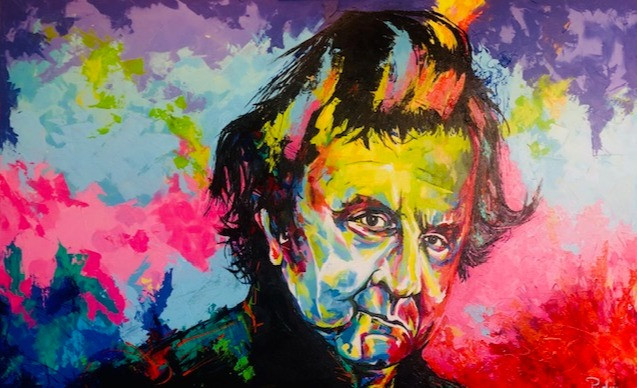 Spontaneous Realism Portrait of the Man in Black - Mr. Johnny Cash