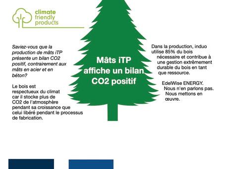 Mâts iTP affiche un bilan CO2 positif!