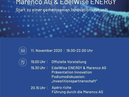 Investorenpartnerschaft von Marenco Holding bei EdelWise ENERGY