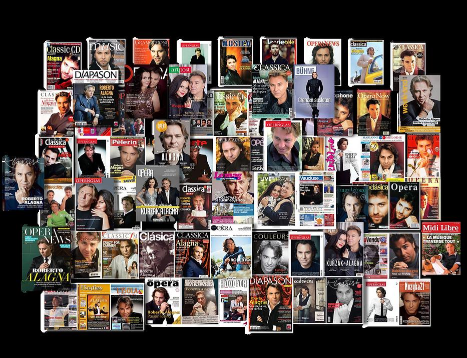 Presse Roberto Alagna Couvertures de Mag