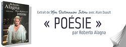 """Entrée """"Poésie"""", Dictionnaire Intime, Al"""