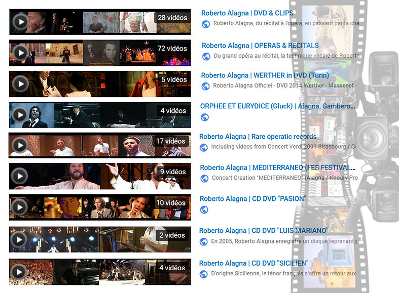 Alagna Visuel Clips Videos DVD
