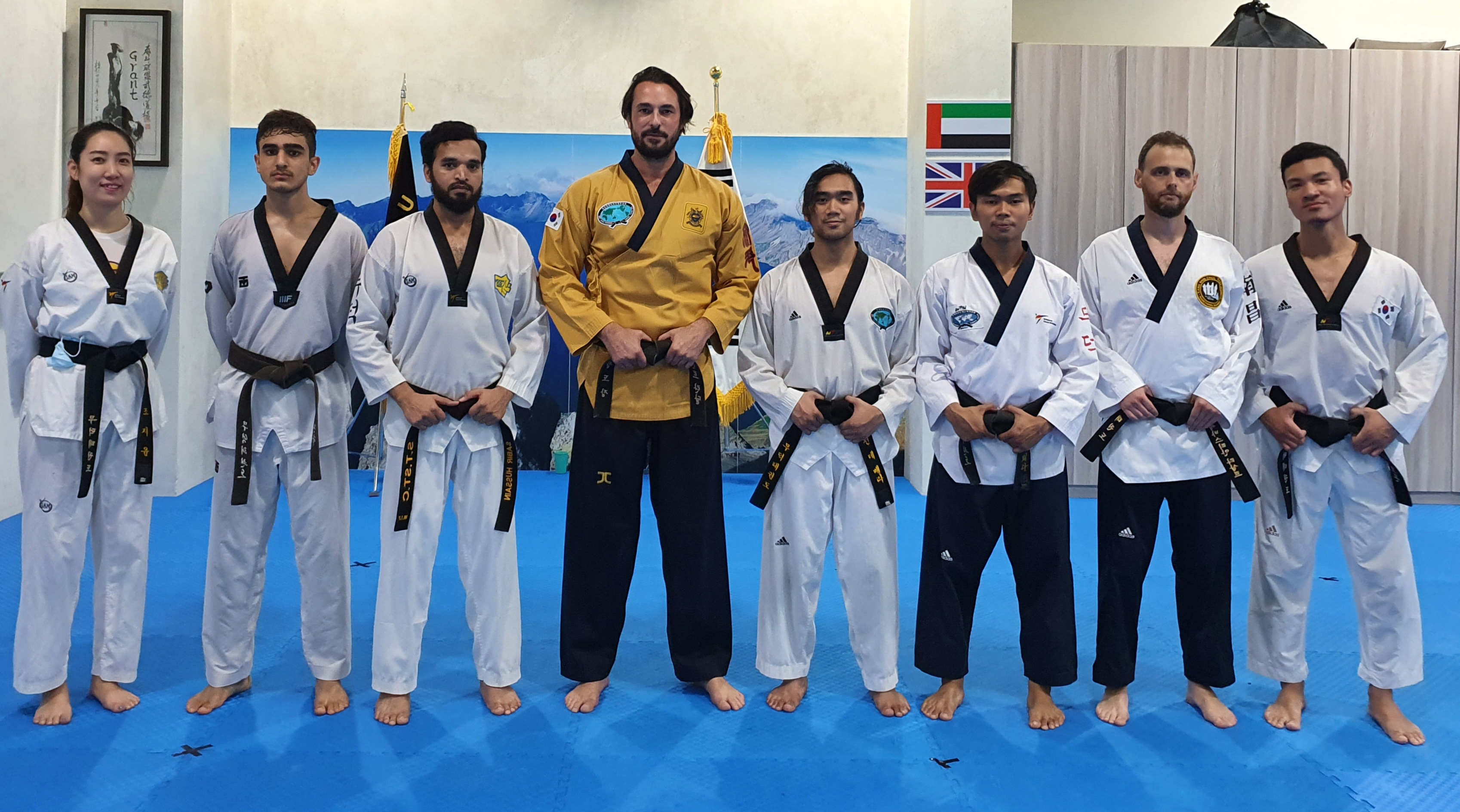 Black belts with Kwanjangnim
