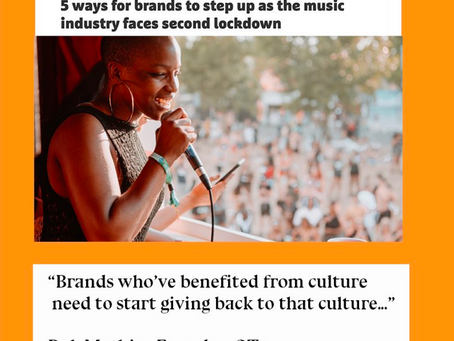 OT1 Opinion Piece: 5 ways for brands to step up for the music industry