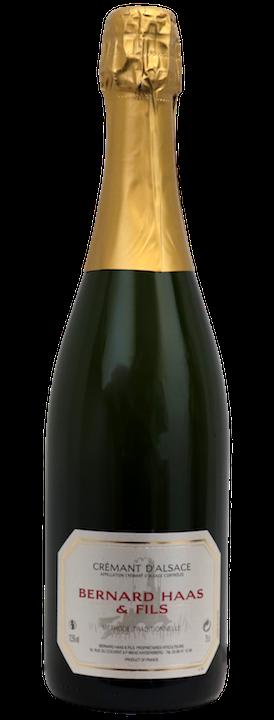 bottiglia vino importazione distribuzione spumante cremant d'alsace brut domaine bernard haas abbinamento cibo vino cucina giapponese